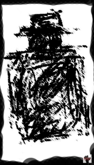 Dibujo gente de las sombras